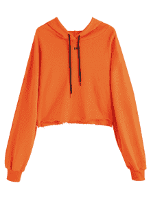 orange crop top hoodie - Google Search
