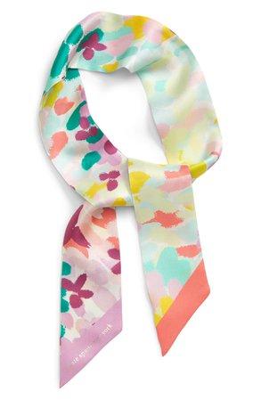 kate spade new york painted petals silk skinny scarf   Nordstrom