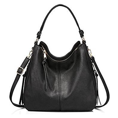 black shoulder bag -