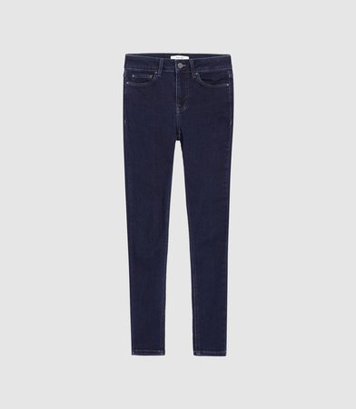 Lux Indigo Mid Rise Skinny Jeans – REISS