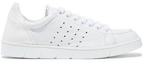 Perforated Textured-leather Sneakers