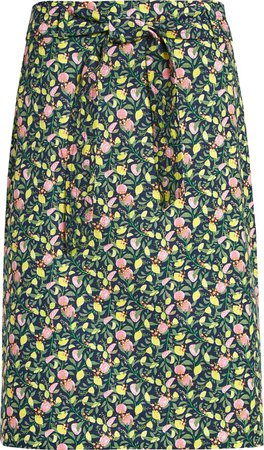 Stretch Cotton Pencil Skirt