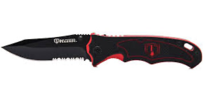 Red and Black knife