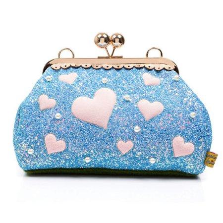 Irregular Choice Candy Cupcake Forbury Gardens Blue Glitter Heart Bag Handbag | eBay