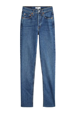 High Rise Ankle Crop Jeans Gr. 28