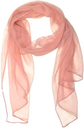 Wrapables Solid Color 100% Silk Long Scarf, White, One Size at Amazon Women's Clothing store