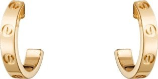 CRB8028800 - LOVE earrings - Yellow gold - Cartier