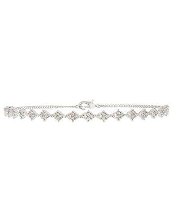 Sparkle Stone Choker Necklace | Silver | One Size | 8826381200 | Accessorize