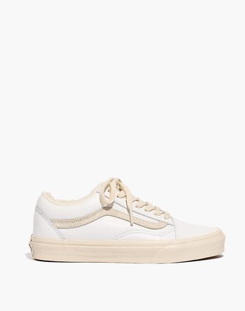 Madewell x Vans® Unisex Old Skool Sneakers in Leather and Sherpa