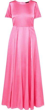 Nanna Silk-blend Charmeuse Maxi Dress - Pink
