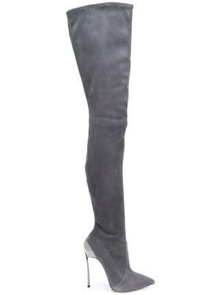 Casadei Techno Blade over-the-knee Boots - Farfetch