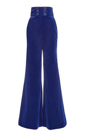Ladybeetle Cotton Velvet Flared-Leg Trousers by Zimmermann | Moda Operandi