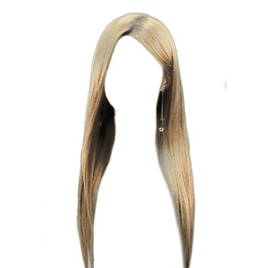 straight blonde hair png