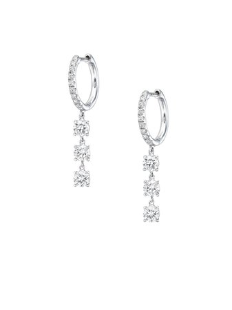 Anita Ko 18kt White Gold Diamond Drop Earrings - Farfetch