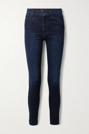 The Super Swooner High-rise Skinny Jeans - Dark denim