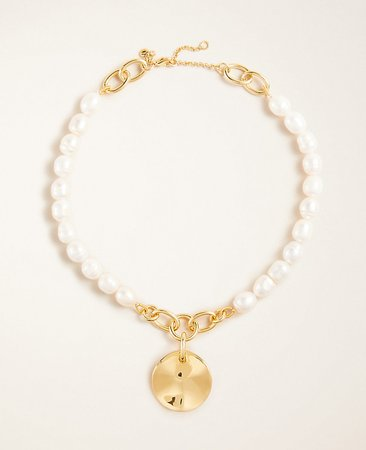 Pearlized Pendant Necklace | Ann Taylor