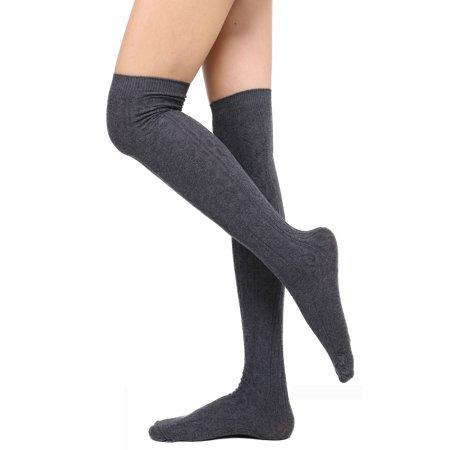 Grey Knee High Stockings