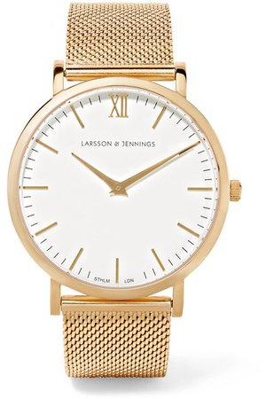 LARSSON&JENNINGS Lugano gold-plated watch