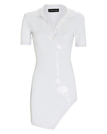 David Koma Sequined Knit Polo Mini Dress   INTERMIX®