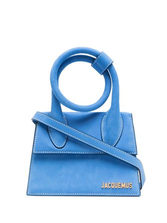 Shop blue Jacquemus Le Chiquito Noeud top-handle bag with Express Delivery - Farfetch
