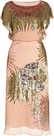 Temperley London Nightfall Sequined Georgette Midi Dress