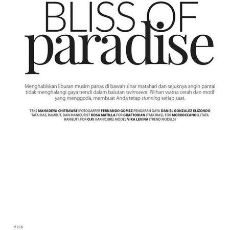 bliss of paradise text
