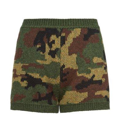 Miu Miu Camouflage Knit Shorts