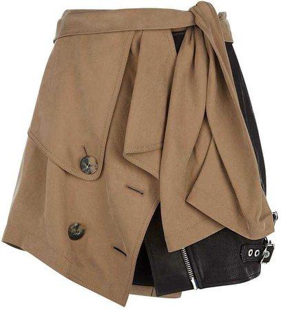 Alexander Wang Trench Leather Mini Skirt
