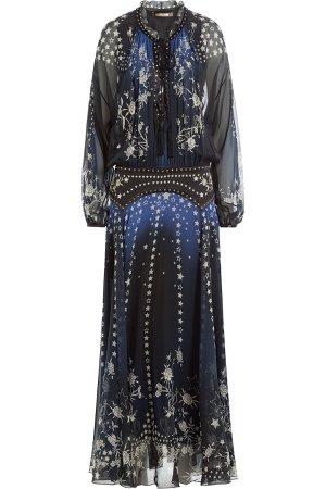 Floor Length Printed Silk Chiffon Dress Gr. IT 42