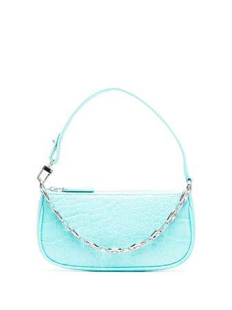 Shop BY FAR Mira crocodile effect mini bag with Express Delivery - FARFETCH