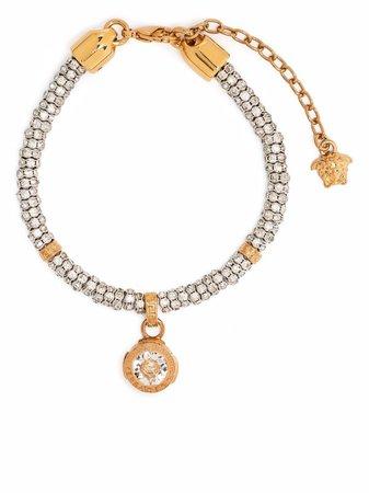 Versace crystal-embellished Medusa Bracelet - Farfetch