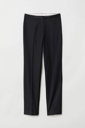 Suit Pants with Zips - Black