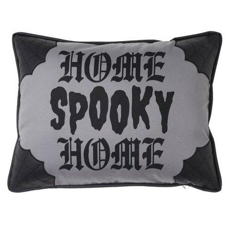 Sourpuss Spooky Home Canvas Pillow