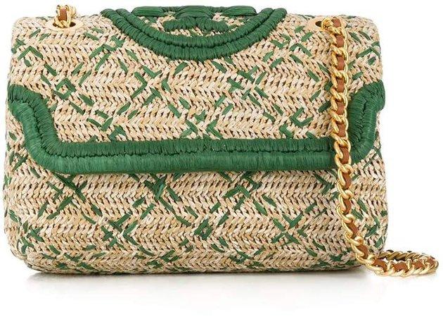 Fleming woven shoulder bag