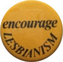yellow Encourage Lesbian pin
