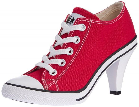 All Star Converse heel in Red 1