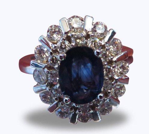 14k Gold Blue Sapphire Ring Enagement Ring Gemstone Ring | Etsy