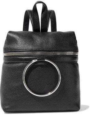 Ring Pebbled-leather Backpack