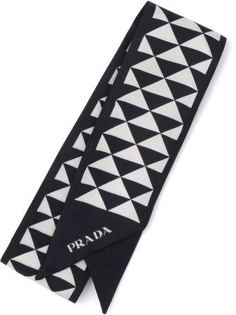 Prada printed silk scarf