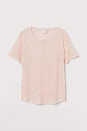 Linen T-shirt - Pink