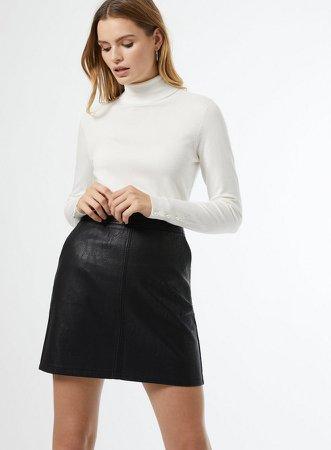 Black PU Mini Skirt