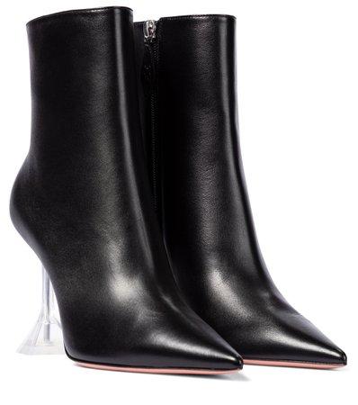 Giorgia Leather Ankle Boots   Amina Muaddi - Mytheresa