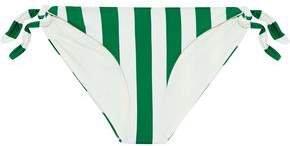 The Jane Striped Low-rise Bikini Briefs