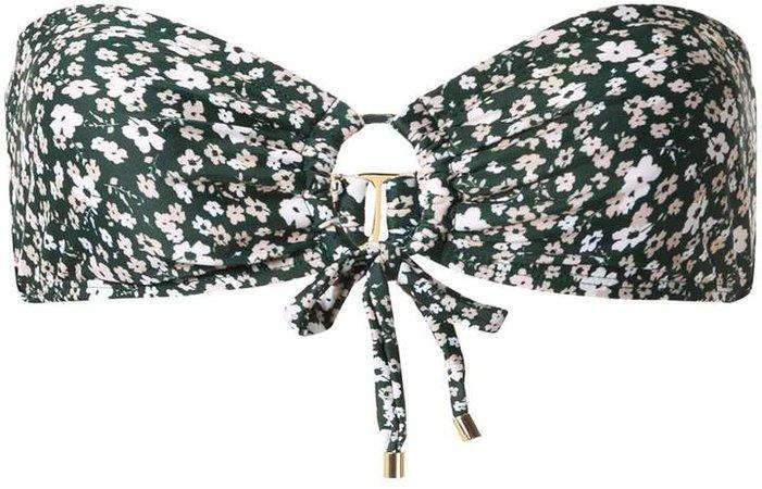 Bandeau Floral Bikini Top
