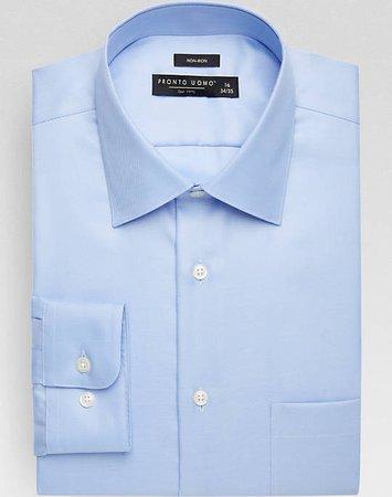 men's light blue dress shirt