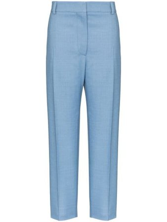 Shop blue Marni straight-leg tailored trousers with Express Delivery - Farfetch