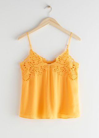 Spaghetti Strap Top - Yellow - Tanktops & Camisoles - & Other Stories