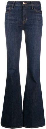 Flared Mid-Rise Jeans