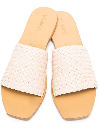 st. Agni Alice Woven Leather Sandals - Farfetch