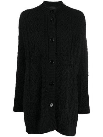 Black Roberto Collina cable knit cardigan - Farfetch